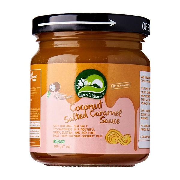 Nature's Charm海鹽太妃焦糖醬200g_ 愛家嚴選純素牛奶糖風味抹醬 濃郁全素甜品淋醬