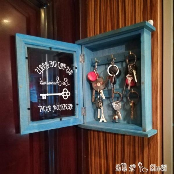 鑰匙收納盒壁掛門口客廳創意家用整理裝飾玄關鑰匙收納擺件鑰匙盒 「潔思米」
