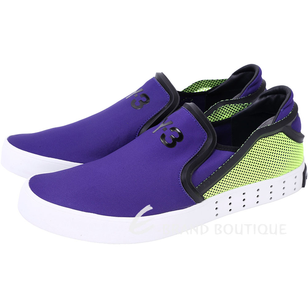 Y-3 LAVER SLIP-ON 撞色拼接休閒便鞋(紫色) 1620557-04