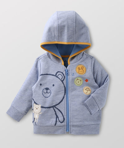 Hallmark Babies 新生寶貝派對長袖連帽拉鍊衛衣外套 HD1-E02-05-BB-NB