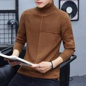 毛衣 秋冬男式高領針織衫青少年韓版休閑保暖上衣