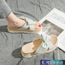 增高拖鞋 仙女鬆糕涼拖鞋女夏時尚外穿防滑新款增高厚底一字鞋拖沙灘鞋 星河光年
