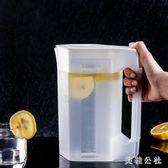 冷水壺塑料扎壺比玻璃防爆耐熱耐高溫家用涼水杯套裝大容量涼水壺 st3693『美鞋公社』