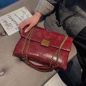 鍊條包高級感秋冬鍊條大包包女潮時尚側背包百搭法國小眾斜背包 美物居家