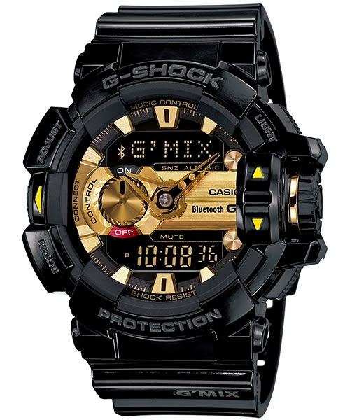 【時間光廊】 CASIO 卡西歐 黑金 藍牙手機連線 控制音樂 G-SHOCK 原廠公司貨 GBA-400-1A9DR