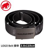 【MAMMUT 長毛象 Mammut Logo Belt 腰帶《黑/鈦金灰》】1192-00070/腰帶/扣環腰帶/皮帶