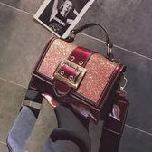 韓版時尚包包亮片側背包斜挎包手提學生休閒女包