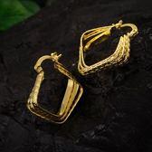 耳環 純銀鍍18K金-復古熱銷生日情人節禮物女飾品73cx39[時尚巴黎]