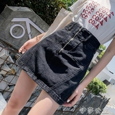 (快出)高腰黑色港味牛仔裙大碼半身裙包臀裙胖mm顯瘦簡約百搭