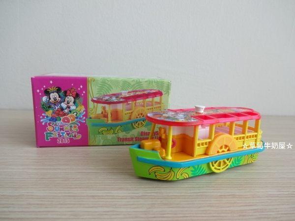 ☆草莓牛奶屋☆日本進口東京迪士尼海洋【TOMICA小汽車】遊河船(2015年夏季限定)