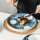 西餐盤 釉下彩盤子家用2021新款盤子創意網紅個性牛排盤平盤西餐菜盤日式 【99免運】