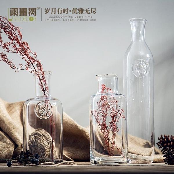 [超豐國際]without makeup歐式玻璃花瓶小浮雕玻