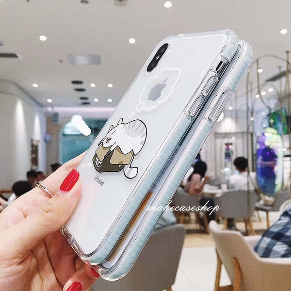 睡覺貓狗 iPhone SE2 XS Max XR i7 i8 i6 i6s plus 手機殼 加厚氣墊殼 保護殼保護套 透明軟殼 全包防摔殼