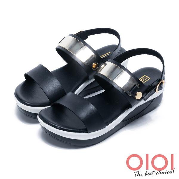 涼拖鞋 MIT舒適輕量一字厚底涼鞋(黑)*0101shoes【18-5157bk】【現貨】