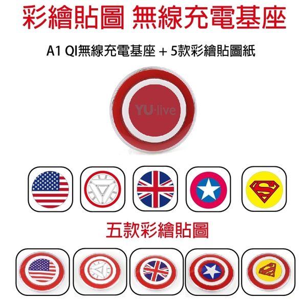 特價加購 ! YU-live A1 彩繪版 QI無線充電基座 特價加購 iphone 5S / iphone 5C / iphone 5  QI無線充電接收器