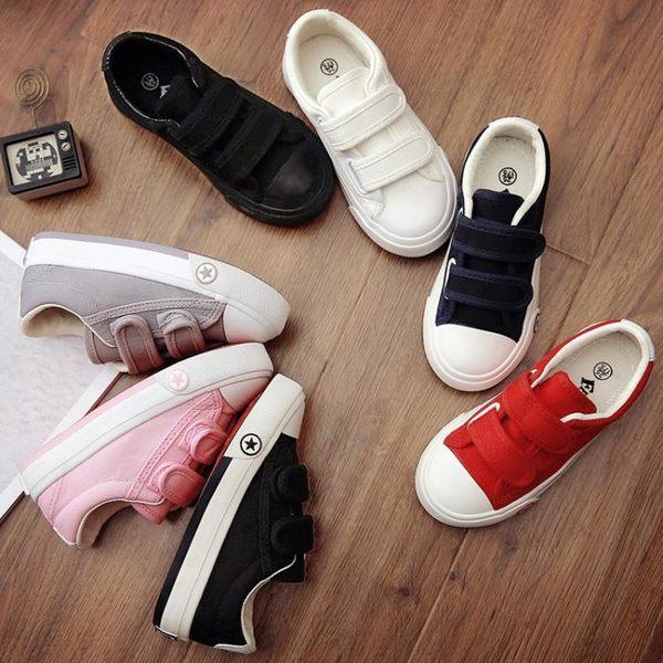 蠟筆小新童鞋男女兒童帆布鞋小白鞋子寶寶布鞋板鞋春秋季新款