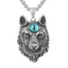 《QBOX 》FASHION 飾品【CHE403】精緻個性歐美龐克風狼頭之眼鑄造鈦鋼墬子項鍊/掛飾