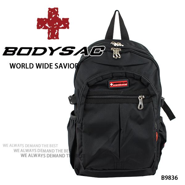 黑色耐磨機能小後背包  AMINAH~【BODYSAC B9836】