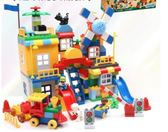 兼容積木大顆粒男孩子拼裝女孩1-2拼插兒童益智玩具-3-6周歲HRYC4 萬聖節禮物