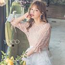 東京著衣【YOCO】空靈美人袖綁帶鏤空針...