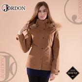 【JORDON 橋登 女 GORE-TEX二件式外套《拿鐵》】1098/保暖羽絨外套/風衣/防水