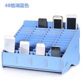 手機收納盒桌多格整理盒子名片木質收納架辦公會議管理盒教室存放 Ic471『伊人雅舍』