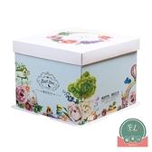 加厚方盒手提包裝盒子烘焙打包盒蛋糕盒6寸【福喜行】