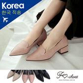 跟鞋.霧感方跟高跟鞋-FM時尚美鞋-韓國精選.Lazy