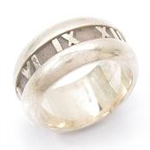 Tiffany & Co 蒂芬妮 Atlas系列925純銀戒指 9號 【二手名牌 BRAND OFF】