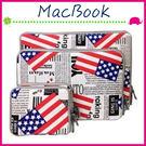 Apple MacBook Air/Pro/Retina 國旗圖案內膽包 復古風保護套 雜誌筆記本電腦包 筆電包 收納配件包