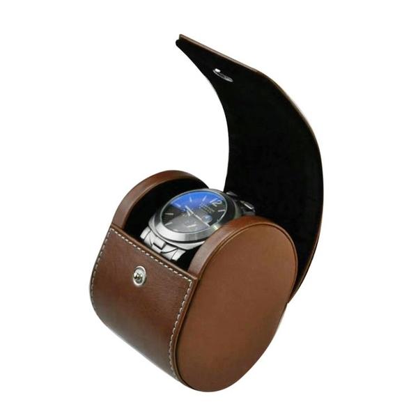 手錶收納盒 單錶手錶收納盒單只機械錶袋便攜式旅行手錶盒錶袋高檔飾品收納盒【快速出貨】