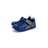 中童 日本 IFME 透氣 魔鬼氈 排水孔 輕量 機能 水涼鞋《7+1童鞋》C406 藍色