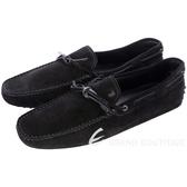 TOD'S GOMMINO 黑色麂皮綁帶豆豆休閒樂褔鞋(男) 1240500-01