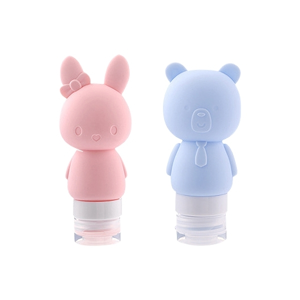 卡通矽膠壁吸式分裝瓶(60ml) 款式可選【小三美日】