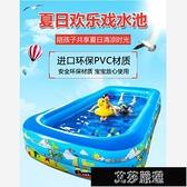 充氣游泳池 充氣游泳池家用大人兒童小孩寶寶加厚洗澡嬰兒家庭超大折疊戲水池