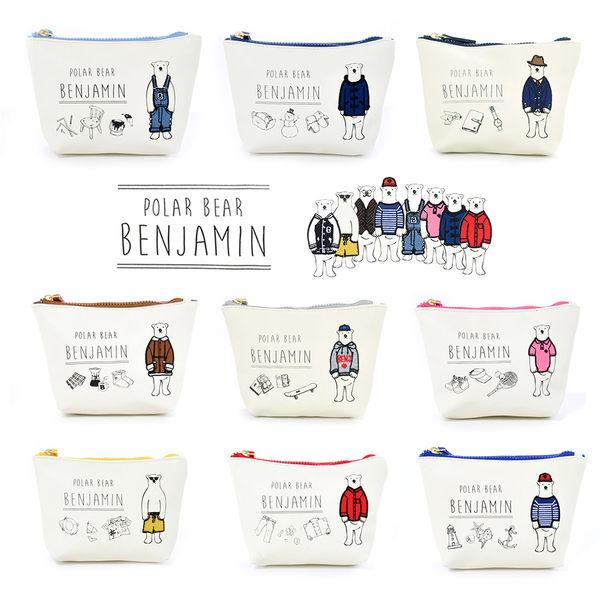 [MIJ] 日本 北極熊班傑明 刺繡化妝包 10色可選 anello子品牌 POLAR BEAR BENJAMIN