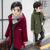 男童毛呢大衣外套秋冬裝兒童裝學生小男孩衣服上衣 QG15634『Bad boy時尚』