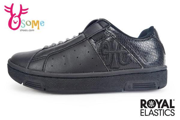 Royal Elastics童休閒鞋 Icon Andox & Box 聯名款 免綁帶 運動鞋G9231#黑色◆OSOME奧森童鞋/小朋友