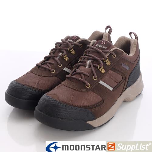 【MOONSTAR】Supplist戶外健走鞋-(4E寬楦)休閒紓壓款-58TEF7咖啡-男段(24.5cm、26.5cm)