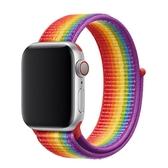 適用apple watch智能手錶腕帶蘋果手錶錶帶新款尼龍回環錶帶i wat