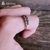 純銀緊箍咒戒指男士個性食指戒指