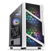 Thermaltake 曜越 Commander C31 TG Snow ARGB Edition ATX 機殼 雪白版 CA-1N2-00M6WN-00