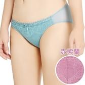 思薇爾 挺享塑系列M-XL蕾絲低腰三角褲(赤紫蘭)