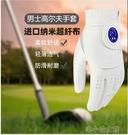 高爾夫手套 高爾夫手套 男士薄款進口納米超纖布柔軟舒適透氣耐磨可水洗 洛小仙女鞋