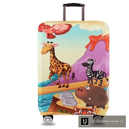 【US.STYLE】非洲草原26吋旅行箱防塵防摔保護套