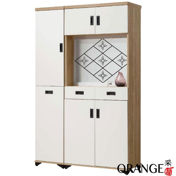 【采桔家居】奧可 時尚4尺雙色屏風雙面櫃/玄關櫃