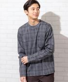 英倫格紋 嫘縈 T恤 男 羅馬布 印花 經典 日本品牌【coen】