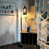 落地燈 復古懷舊落地燈歐式古典創意咖啡廳馬燈煤油燈美式簡約客廳落地燈·夏茉生活YTL