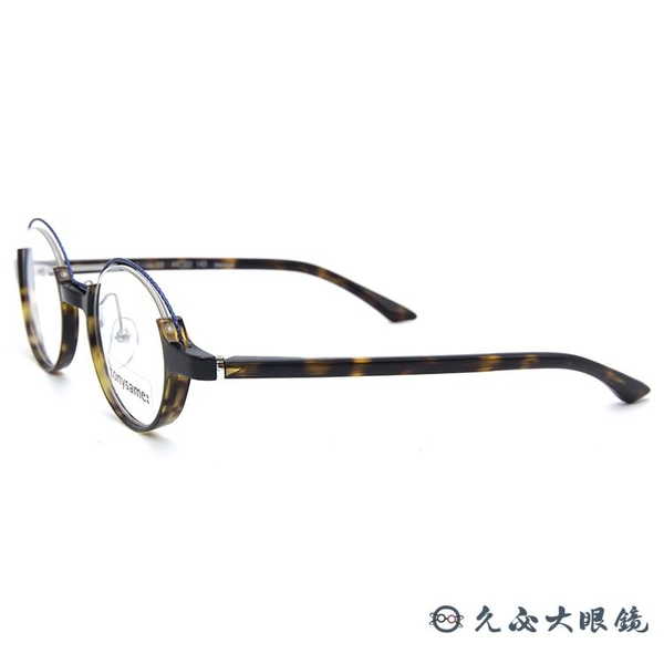 tonysame x padma image 聯名 Tilda 03 (藍-琥珀) 鈦 圓框 近視眼鏡 久必大眼鏡