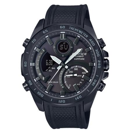 EDIFICE 藍牙智慧錶 賽車錶 不鏽鋼 男錶 IP黑電鍍 低調的高質感 CASIO卡西歐 ECB-900PB-1A